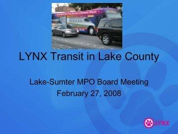 LYNX Transit in Lake County
