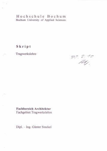 Tragwerkslehre magazine for Tragwerkslehre 1