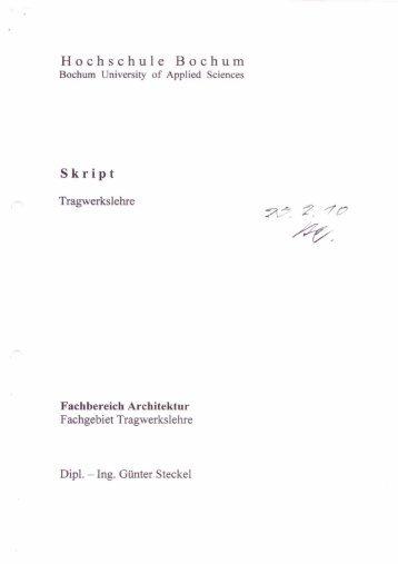 Skript php und javascript hochschule bochum for Tragwerkslehre 1