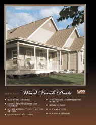 Wood Porch Posts - Turncraft