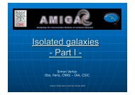 Isolated galaxies Part I