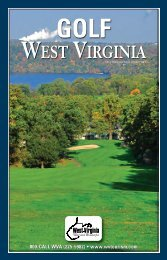 2013 Golf Directory - West Virginia Department of Commerce