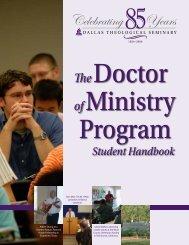 Academic Programs - Dallas Theological Seminary