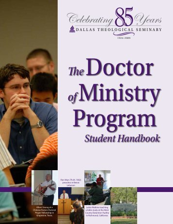 D.Min Handbook PDF - Dallas Theological Seminary