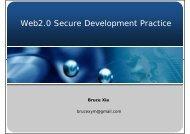 Web2.0 Secure Development Practice
