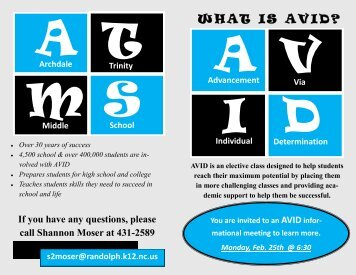 WHAT IS AVID? - Randolph County Schools