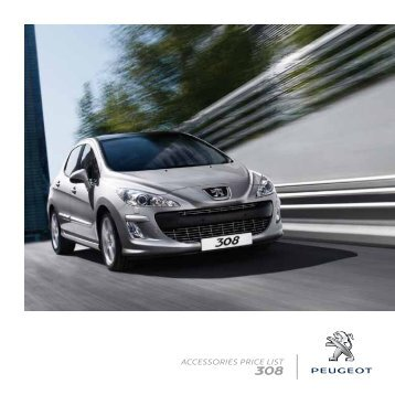 ACCESSORIES PRICE LIST - Peugeot