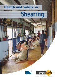 Health and Safety in Shearing (PDF 917kb) - WorkSafe Victoria