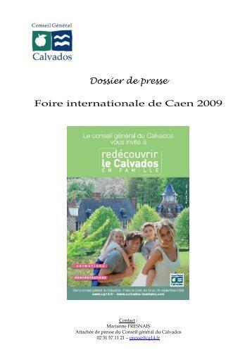 Dossier de presse Foire de Caen 2009 - Conseil général du Calvados