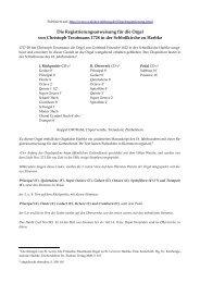 Registrieranweisung für die Orgel von Christoph Treutmann 1728 in ...