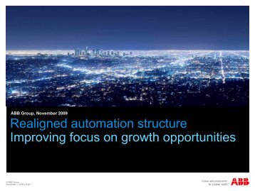 New automation structure - ABB - ABB Group
