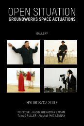 OPEN SITUATION - atelier performance