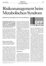 Risikomanagement beim Metabolischen Syndrom