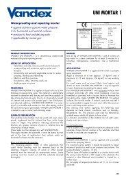 Vandex Unimortar 1 - Safeguard Europe Ltd.