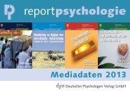 Mediadaten 2013 (PDF) - Deutscher Psychologen Verlag GmbH