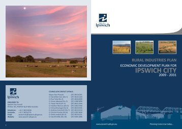 Rural Industries Plan - Ipswich City Council - Queensland Government