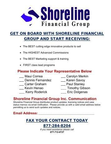GET ON BOARD WITH SHORELINE FINANCIAL ... - Shorelinefg.net