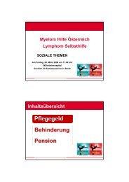 Vortrag als Download - Myelom Hilfe Österreich