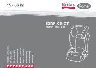 KIDFIX SICT 15 - 36 kg - BRITAX RÖMER