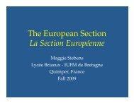 The European Section La Section Européenne