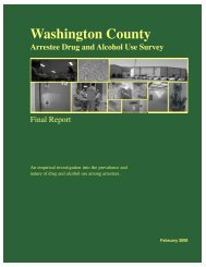 Washington County - Department of Sociology and Criminal Justice