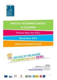 MOIS de l'ECONOMIE SOCIALE et SOLIDAIRE - CRESS PACA