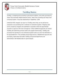 TechBuy Basics - TTUHSC :: Finance & Administration - Texas Tech ...