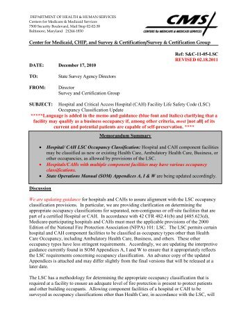 Survey and Cert Letter 13-04 [PDF, 490KB] - Centers for Medicare ...