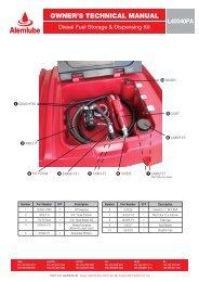 Lockable Diesel Fuel Storage & Dispensing Kit - Alemlube