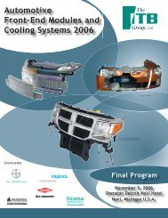 Automotive Front-End Modules and Cooling ... - The ITB Group