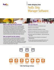 FedEx® Ship Manager Software - The Outdoor Foundation
