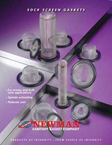 SOCK SCREEN GASKETS - Newman Sanitary Gasket Company