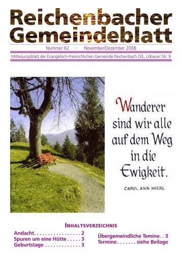 Nr. 62 November/Dezember 08 - bei der EFG Reichenbach
