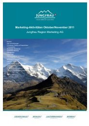 Marketing-Aktivitäten Oktober/November 2011 Jungfrau Region ...