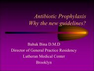 Antibiotic Prophylaxis Why the new guidelines? - Dmcnet.org