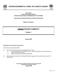 expert review comments - (IPCC) - Working Group 2