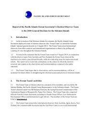 PIFS Election Observer Report: Solomon Islands, 2010 - Pacific ...