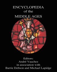 ENCYCLOPEDIA of the MIDDLE AGES - James Clarke and Co Ltd