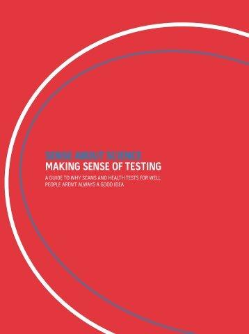 sense about science making sense of testing