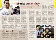 Koories turn the key - Australian Education Union, Victorian Branch