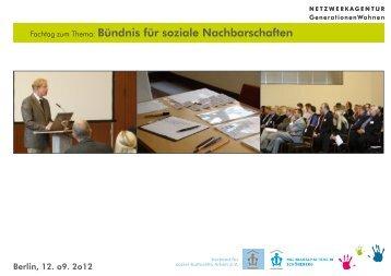 Bündnis für soziale Nachbarschaften - Netzwerkagentur ...