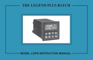 LGPB Manual 1118KB - Red Lion Controls