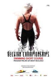 Programme samedi - Belgische Kampioenschappen Korte Baan 2012