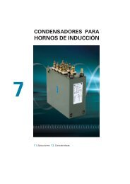 Condensadores para hornos de inducción. Manual CYDESA