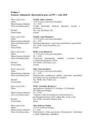 Príloha 3 Zoznam obhájených dizertačných prác na FPV v roku 2010