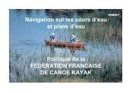 Politique de la FEDERATION FRANCAISE DE CANOE ... - FFCK