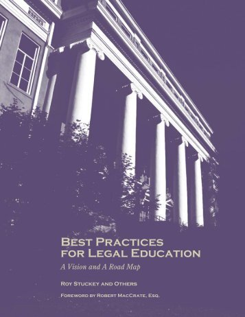 Best Practices For Legal Education - Clinical Legal Education ...