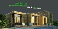 Vabilo na predstavitev lesene hiše Modeko