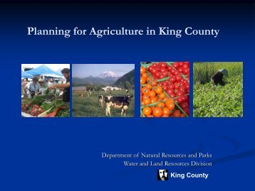 Planning for Agriculture in King County