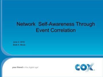 Network Self-Awareness Through Event Correlation - IEEE CQR